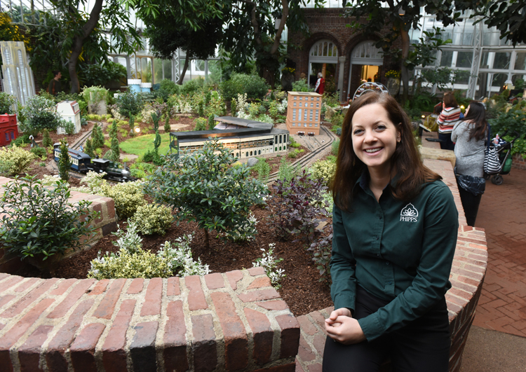 Jordyn Melino is the exhibit coordinator at Phipps Conservatory and Botanical Gardens. She also designed the garden railroad at Phipps. The theme is 200 Years of Pittsburgh. The exhibit follows Pittsburgh from the 1870's through 2013. It includes Mr. Rogers, Three Rivers Stadium, Forbes Field, KDKA radio and more.