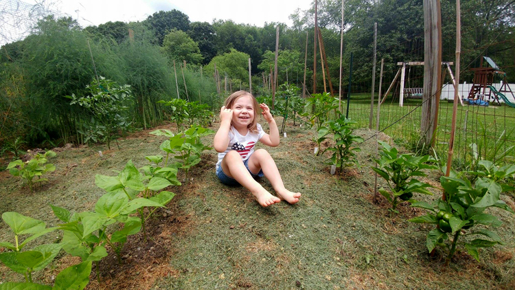 Matthew Goehring enjoys sharing his passion for gardening with his kids. His daughter Vivian, 3, seems to enjoy her time in the garden.