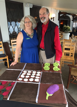 Kim Roman with her mentor and friend Mel Bartholomew who founded the square foot garden method. Roman runs Square Foot Garden 4 U in Maryland.