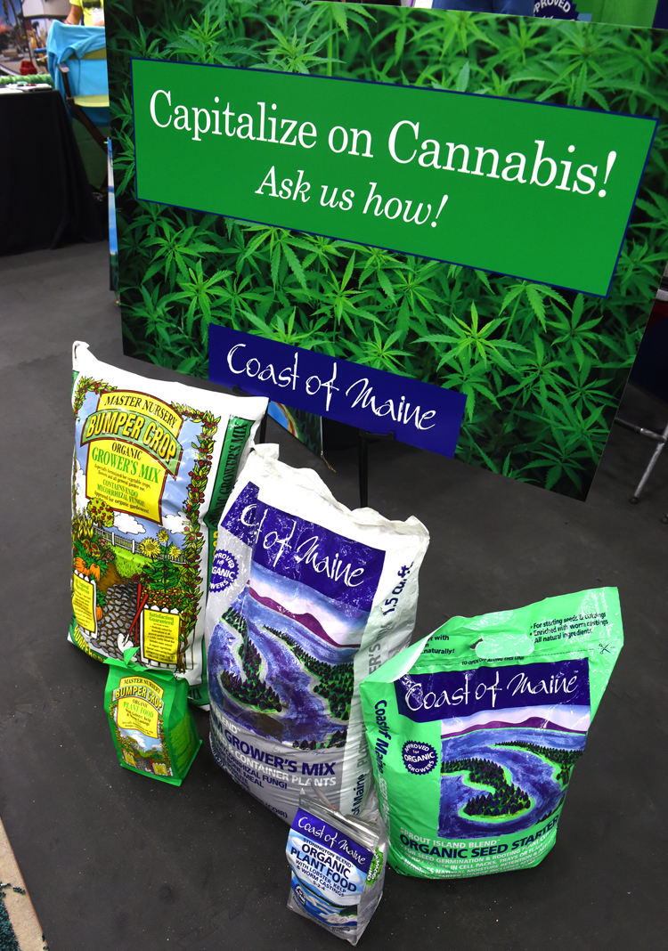 "Coast of Maine Organic Products were on display at the Mid Atlantic Nursery Trade Show in Baltimore showing garden professionals the ""Capitalize of Cannabis"" program."