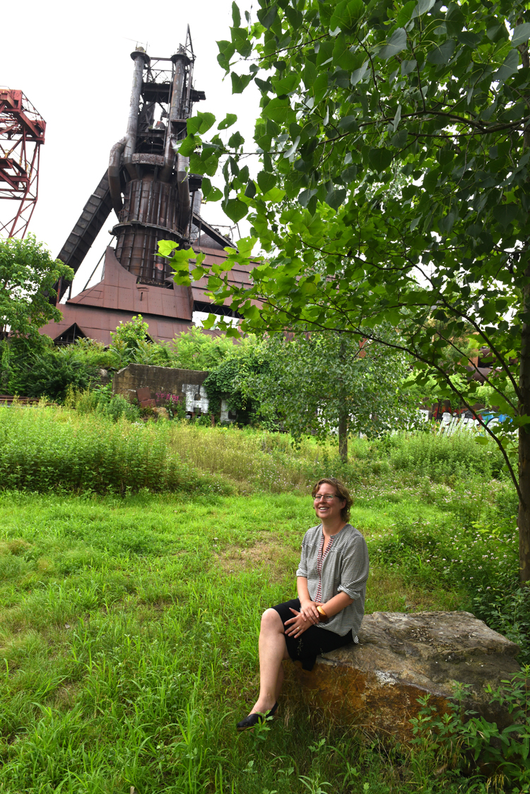 Anna Johnson is post doctoral research fellow from the University of PittsburghÕs biological sciences department, she's also an ecologist, botanist and holds a PhD in geography. Her part time passion though is the Iron Garden at the Carrie Furnaces National Historic Landmark site in Rankin