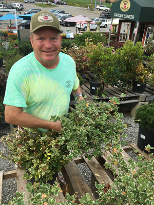 Randy Soergel, owner of Soergel Greenhouses in Wexford has lots of deer resistant shrubs to talk about.