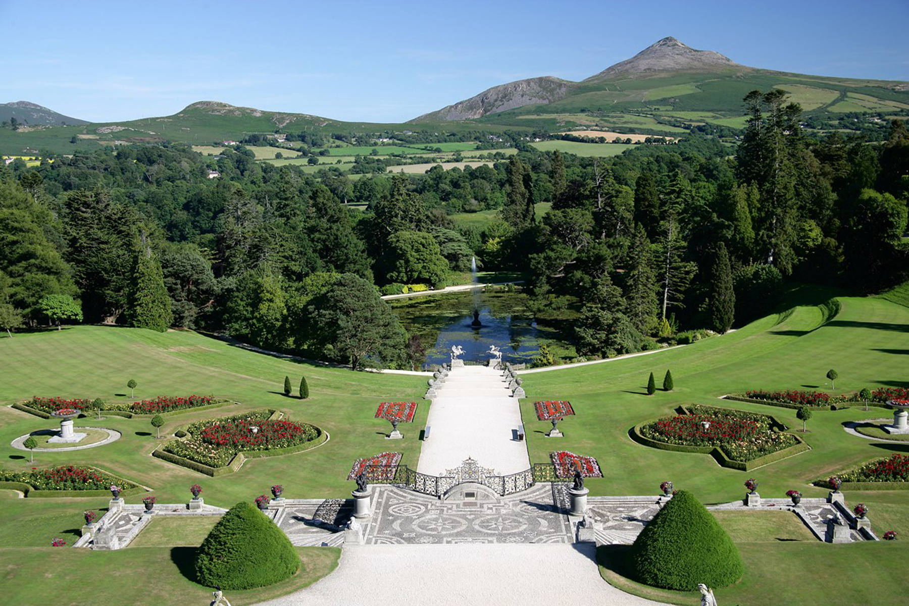 Powerscourt Gardens is one of the greatest in the world.
