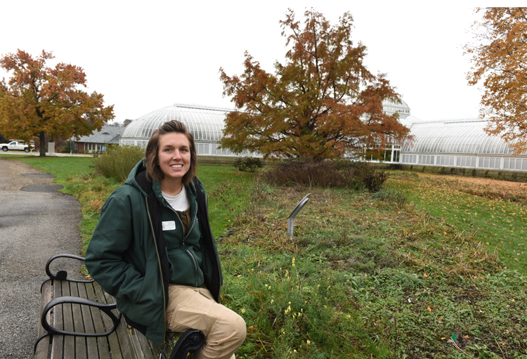 Jessica Hornenestein is an outdoor display foreman at Phipps Conservatory and Botanical Gardens. Some of the beds she tends have annuals with are removed, but many perennials are left up for the winter. It's part of puttin the garden to bed.