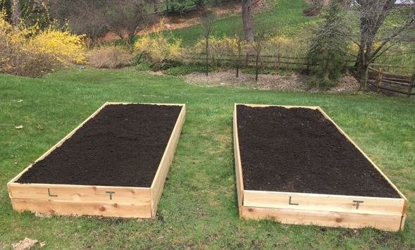 Filled raised bed gardens