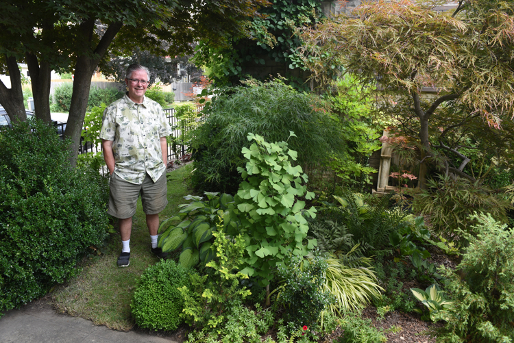 John Staudacher is a lifelong gardener who was diagnosed with Parkinson's disease, but he's determined to keep his amazing city garden going strong. He lives in Regent Square a neighborhood of Pittsburgh, Pa.
