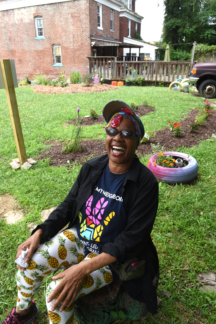 Beverly Howell has turned a vacant lot next to her Homewood property into a children's garden with the help of Grounded.