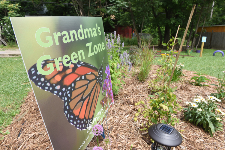 GrandmaÕs Green Zone is an area Beverly Howell has turned into a children's garden with the help of Grounded.