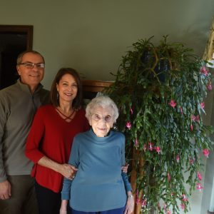 David and Kathy Brooke have raised a Christmas cactus grown for decades by David's grandmother Margaret Presutti Souse.