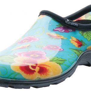 Sloggers are a great waterproof garden shoes that slip on and off easily.