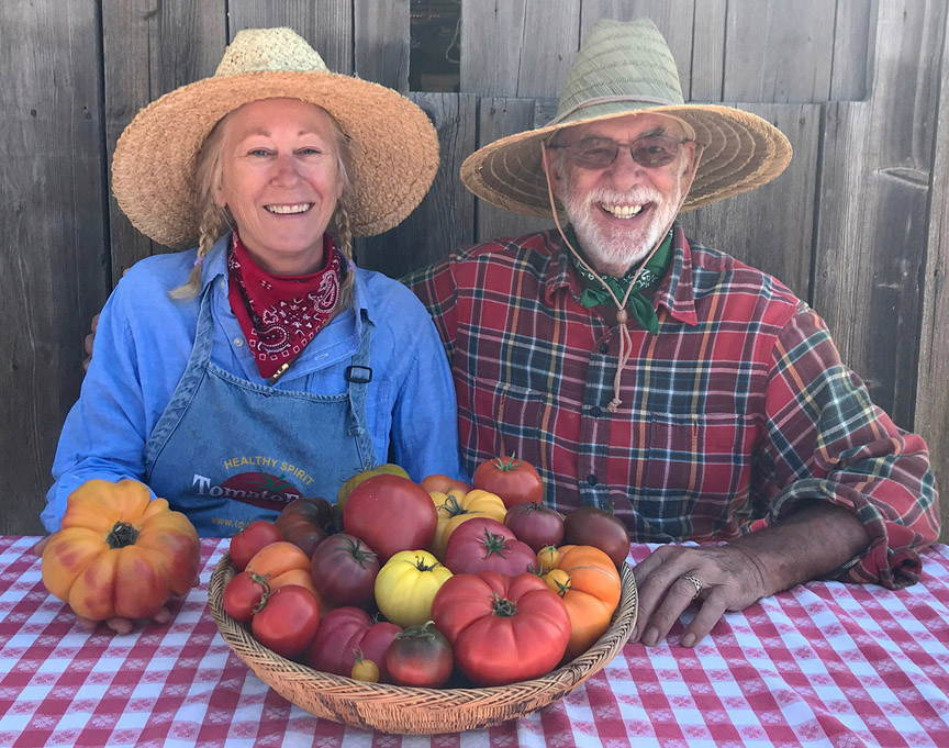 Dagma Lacey and Gary Ibsen run TomatoFest, a company that offers 650 different heirloom tomatoes to gardeners. Most of the seeds they grow are donated to schools and others who need help.