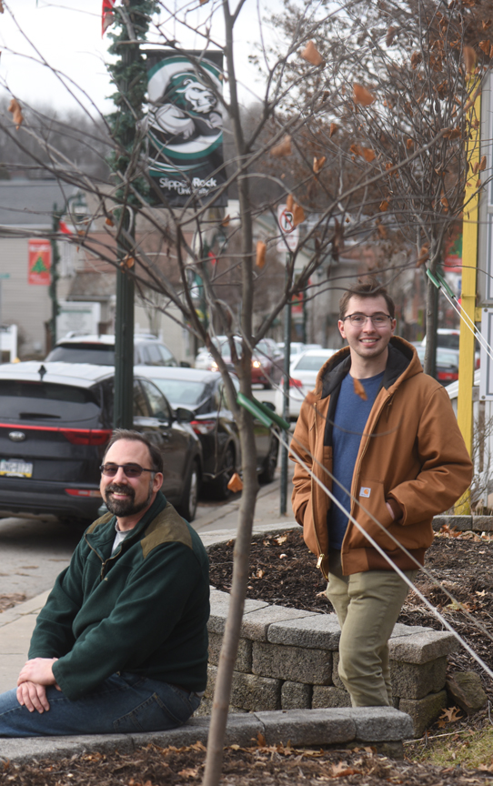 David Krayesky and Luke Gregory have teamed up to try and replant the town of Slippery Rock with a variety of street trees.