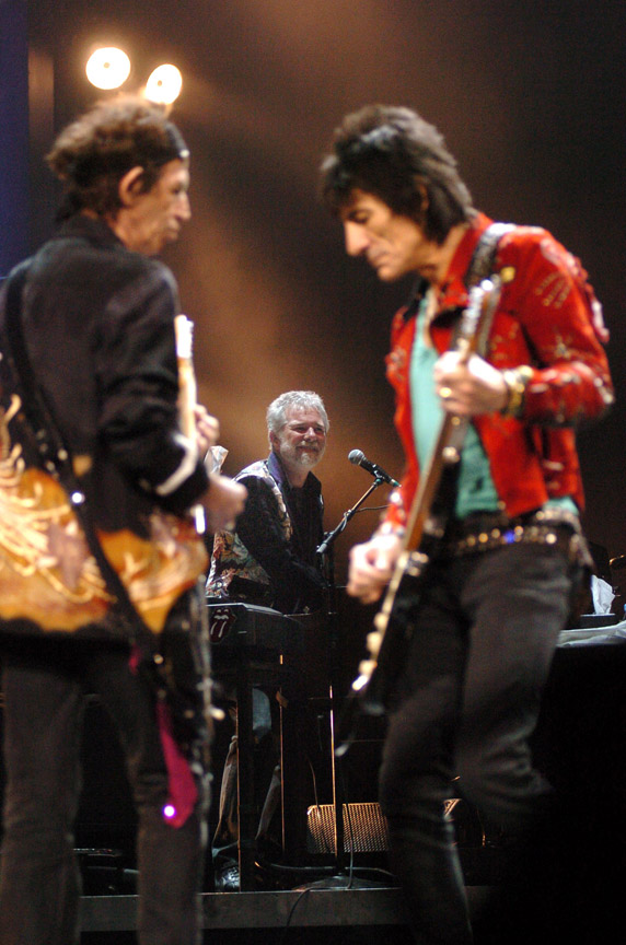 Chuck Leavell is musical director and keyboard player for The Rolling Stones. Here he is between guitarists Keith Richards and Ronnie Wood. He's also an environmentalist who runs Charlane Plantation in Georgia. Photo by Kevin Mazur/Getty Images