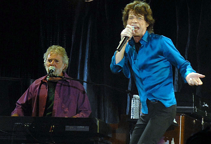 Chuck Leavell is musical director and keyboard player for The Rolling Stones. He's seen here with frontman Mick Jagger. He's also an environmentalist who runs Charlane Plantation in Georgia. Photo by Kevin Mazur
