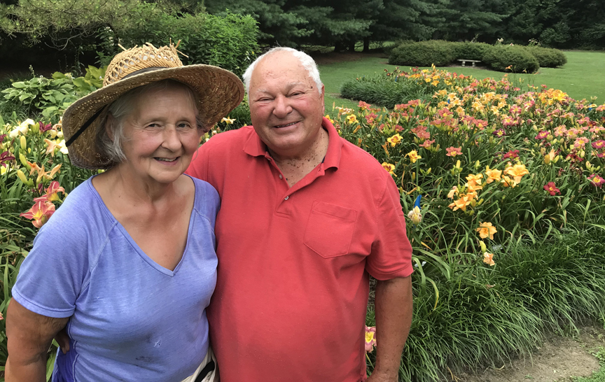 Sarah and Steve Zolock have introduced over 165 named varieties of daylily and more than 50 new hostas. The couple has gardened at their Rostraver home for decades but are getting ready to sell and downsize.