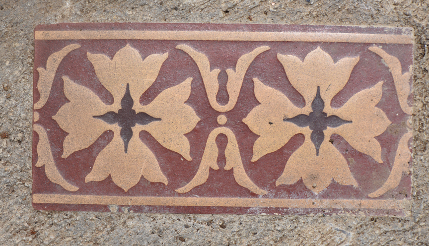 This is a decorative tile saved for years by Frank Pizzi, curator of horticulture and grounds at the Pittsburgh Zoo & PPG Aquarium. The tile is in the threshold of a new, state of the art greenhouse at the zoo. He's also planning on retiring in October and this will be a reminder to friends and family of his 34 years working at the zoo.