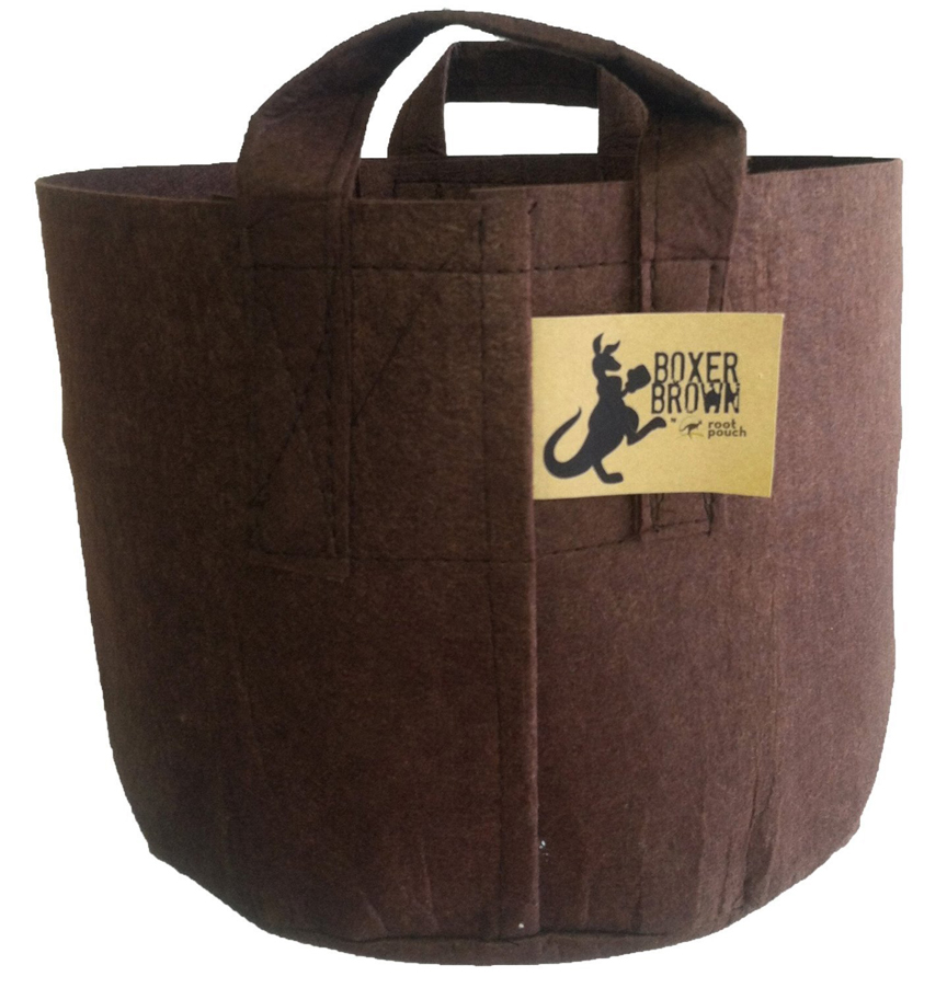10, 15 and 200 gallon Root Pouch containers are available in the Everybody Gardens store. They are inexpensive, lightweight and made from recycled plastic bottle.