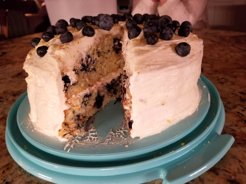 This is Kurt Stegner's lemon blueberry zucchini cake.
