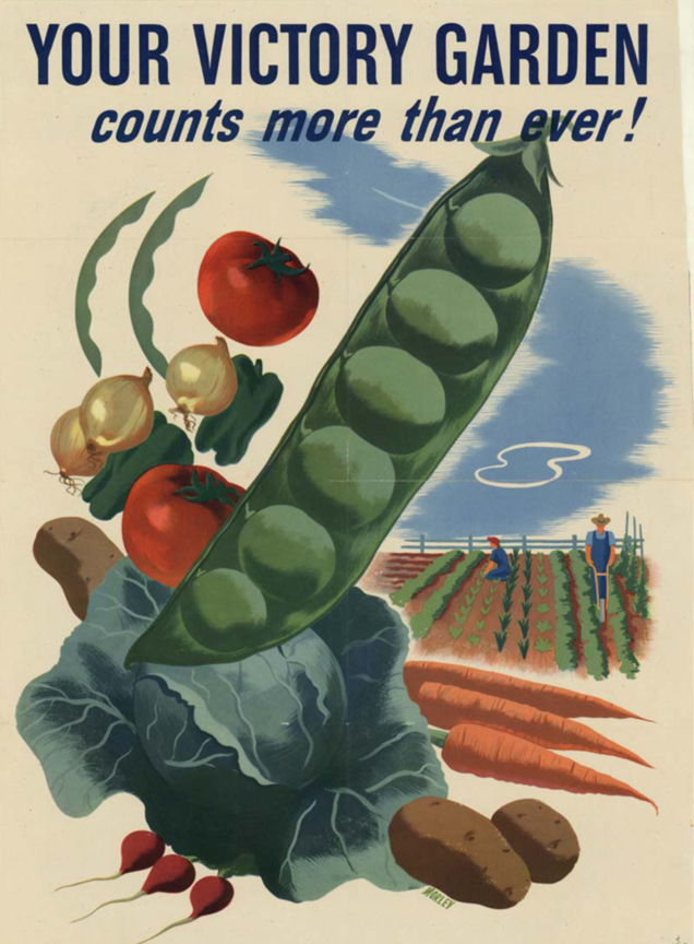 A WWII poster promoting Victory Gardens.